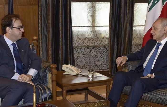بري استقبل السفير الفرنسي ووزير المال وتلقى رسالة من نائب رئيس الإتحاد الأوروبي