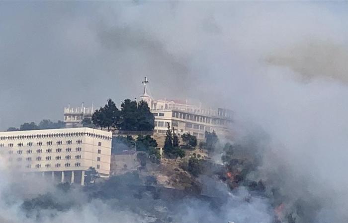حمد إتصل بفهمي وقائد الجيش لمتابعة حريق دير الصليب وأوعز بمتابعة أوضاع المرضى