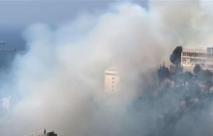 حريق كبير قرب دير الصليب... والنيران تقترب من مبانيه! (فيديو)