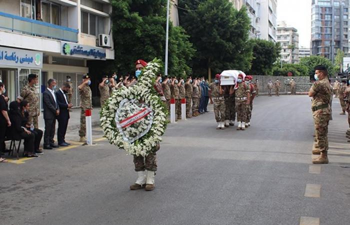 الجيش يشيع العريف الشهيد اسطفان روحانا