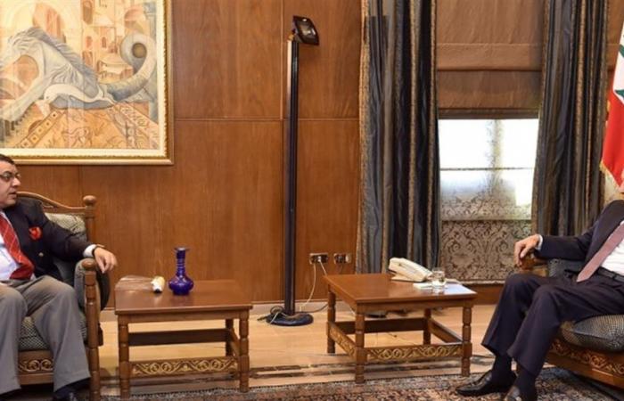 بري استقبل المطران مطر وعرض الاوضاع مع السفير المصري