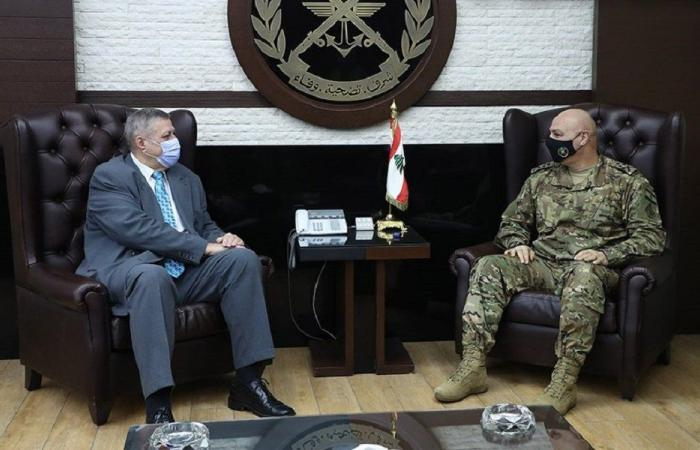 قائد الجيش عرض شؤون المنطقة مع كوبيتش